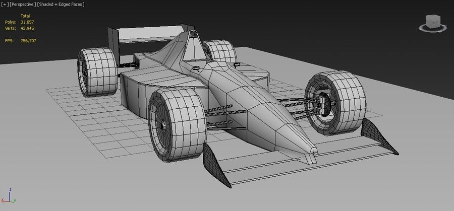 Formel 1 royalty-free 3d model - Preview no. 10
