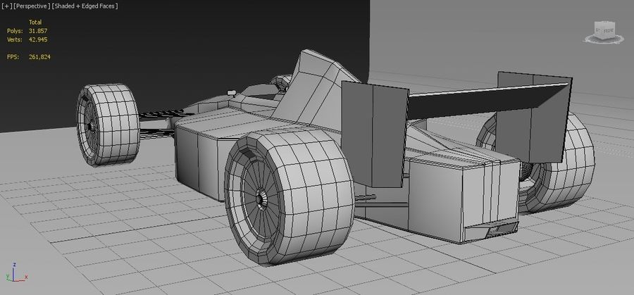 Formel 1 royalty-free 3d model - Preview no. 9