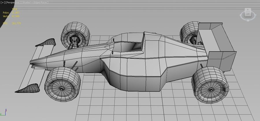 Formel 1 royalty-free 3d model - Preview no. 12