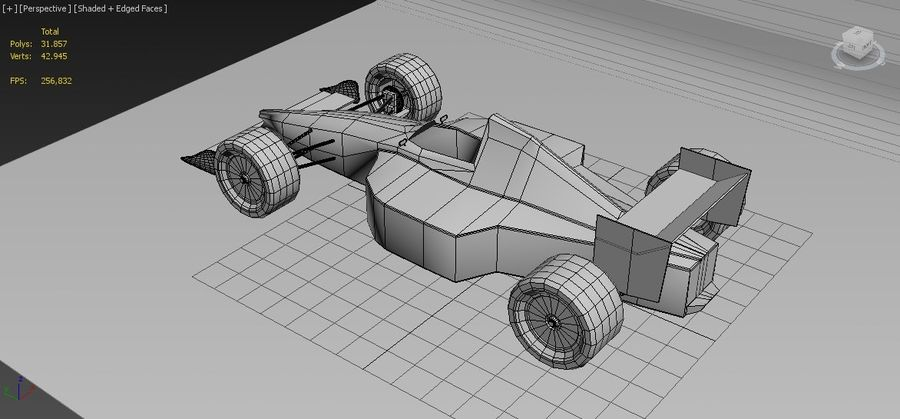Formel 1 royalty-free 3d model - Preview no. 8