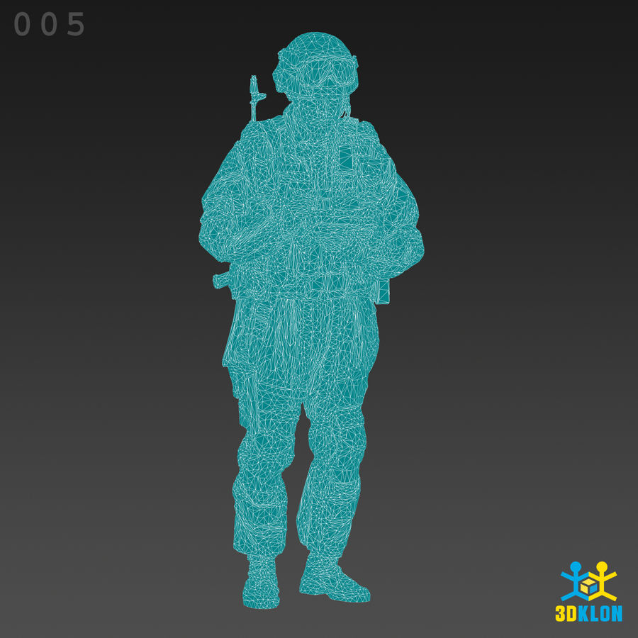 Commander High poly 3D Scan royalty-free 3d model - Preview no. 11