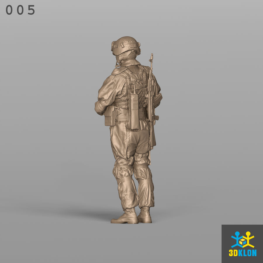 Commander High Poly 3D Scan royalty-free 3d model - Preview no. 10