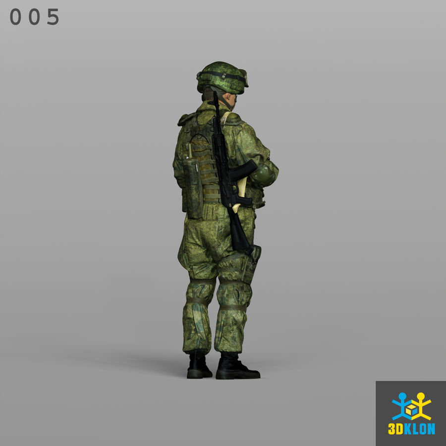 Commander High Poly 3D Scan royalty-free 3d model - Preview no. 7