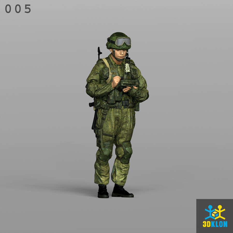 Commander High Poly 3D Scan royalty-free 3d model - Preview no. 3