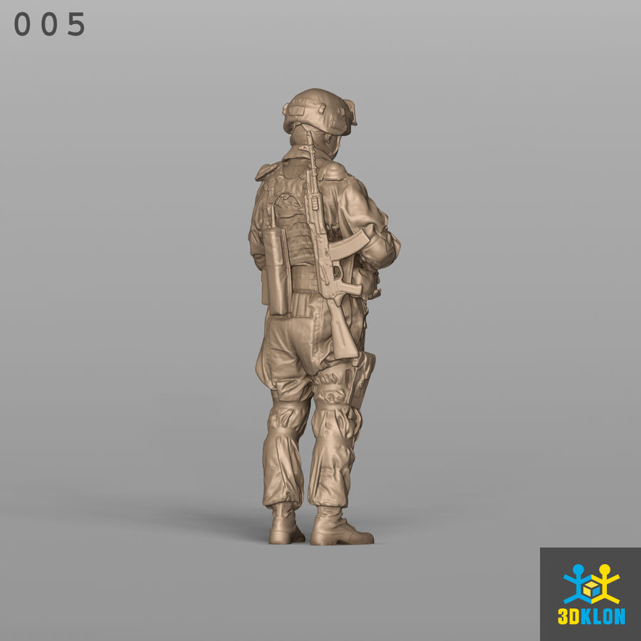 Commander High poly 3D Scan royalty-free 3d model - Preview no. 8