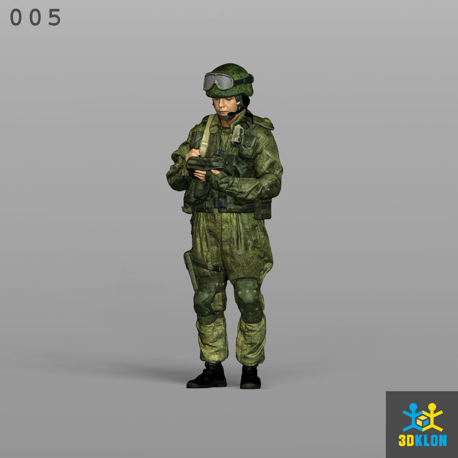 Commander High poly 3D Scan royalty-free 3d model - Preview no. 1