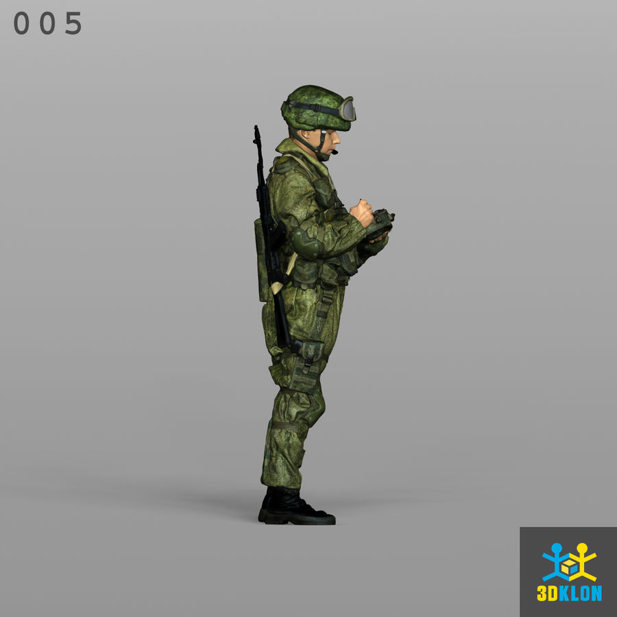Commander High Poly 3D Scan royalty-free 3d model - Preview no. 5