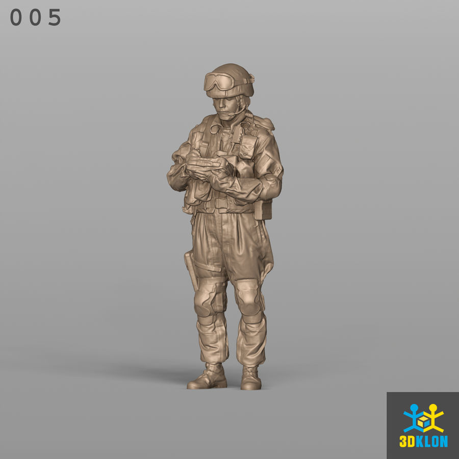 Commander High poly 3D Scan royalty-free 3d model - Preview no. 2