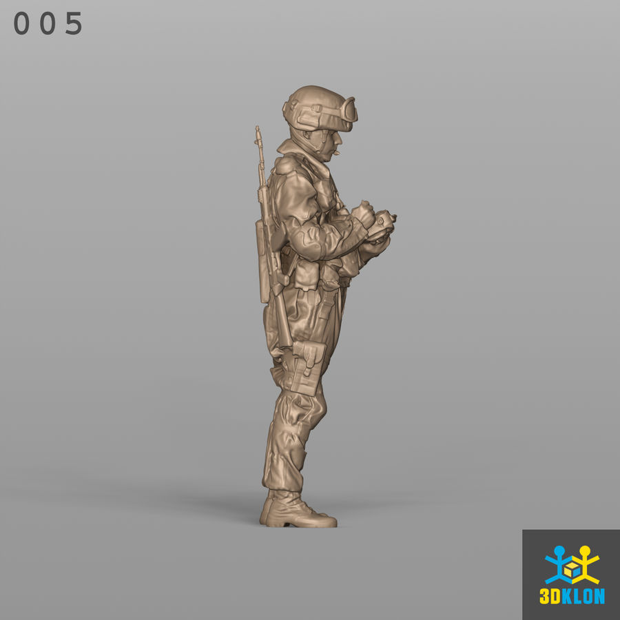 Commander High Poly 3D Scan royalty-free 3d model - Preview no. 6