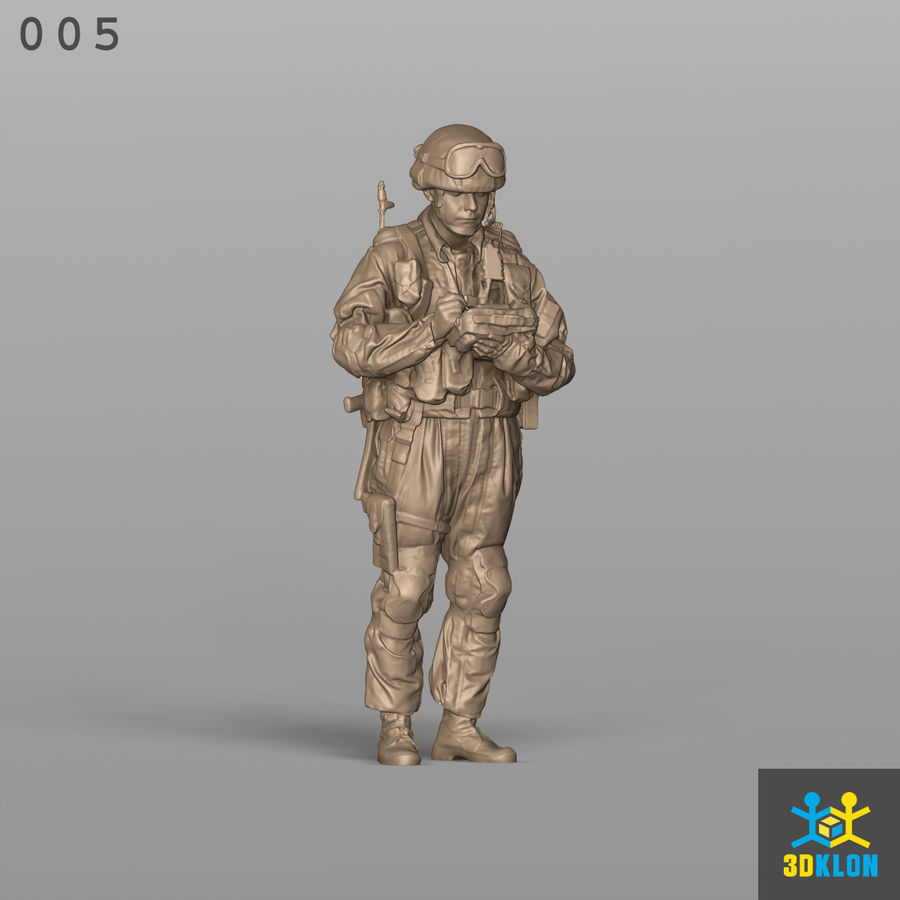 Commander High Poly 3D Scan royalty-free 3d model - Preview no. 4