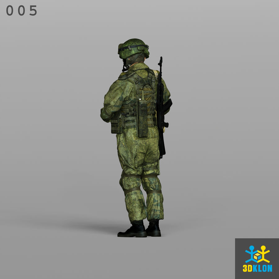 Commander High Poly 3D Scan royalty-free 3d model - Preview no. 9