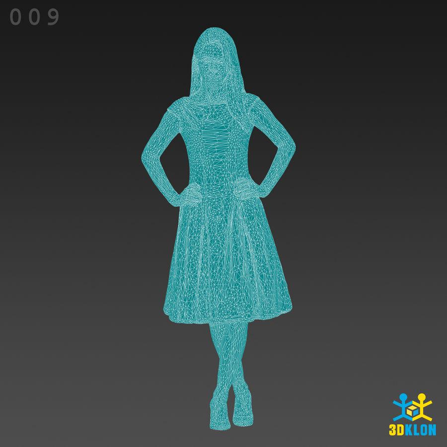 Digitalização 3D alta poli de menina royalty-free 3d model - Preview no. 11