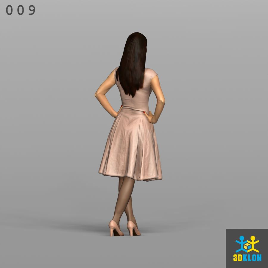 Digitalização 3D alta poli de menina royalty-free 3d model - Preview no. 7