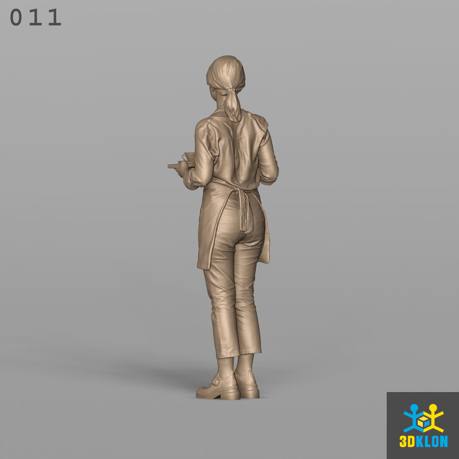 Serveuse High Poly 3D Scan royalty-free 3d model - Preview no. 10