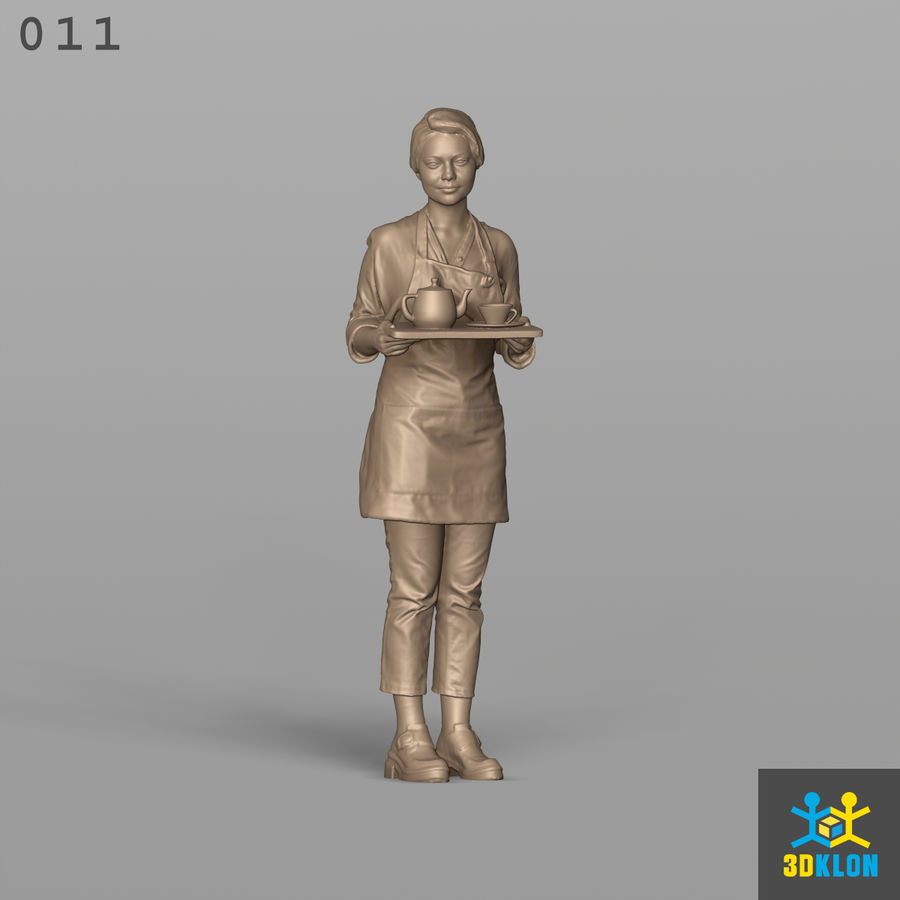 Serveuse High Poly 3D Scan royalty-free 3d model - Preview no. 4