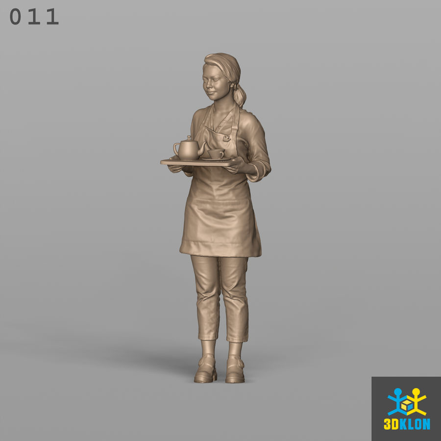 Serveuse High Poly 3D Scan royalty-free 3d model - Preview no. 2