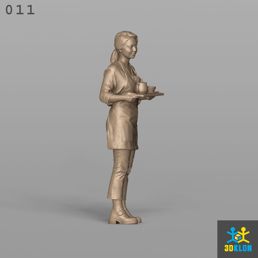 Serveuse High Poly 3D Scan royalty-free 3d model - Preview no. 6