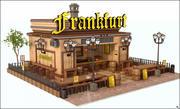 프랑크푸르트 레스토랑 3d model