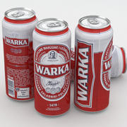 Piwo Warka 500 ml 3d model