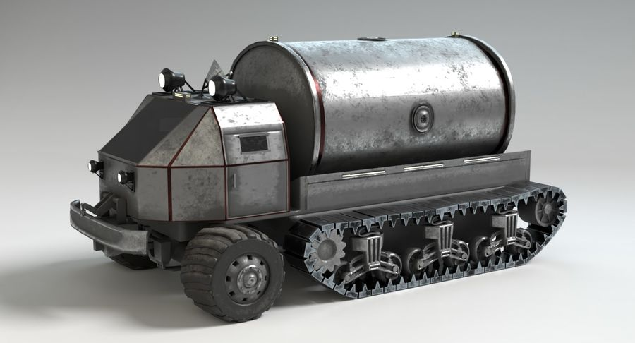 Camion-citerne Sci Fi royalty-free 3d model - Preview no. 11