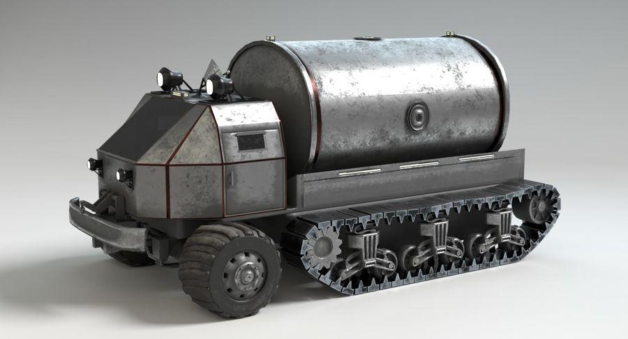 Sci Fi Tank Truck royalty-free 3d model - Preview no. 11