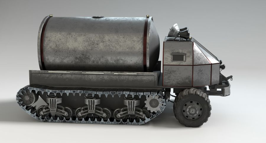 Sci Fi Tank Truck royalty-free 3d model - Preview no. 7