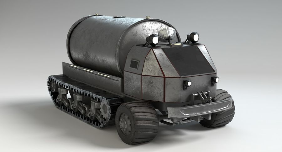 Camion-citerne Sci Fi royalty-free 3d model - Preview no. 6