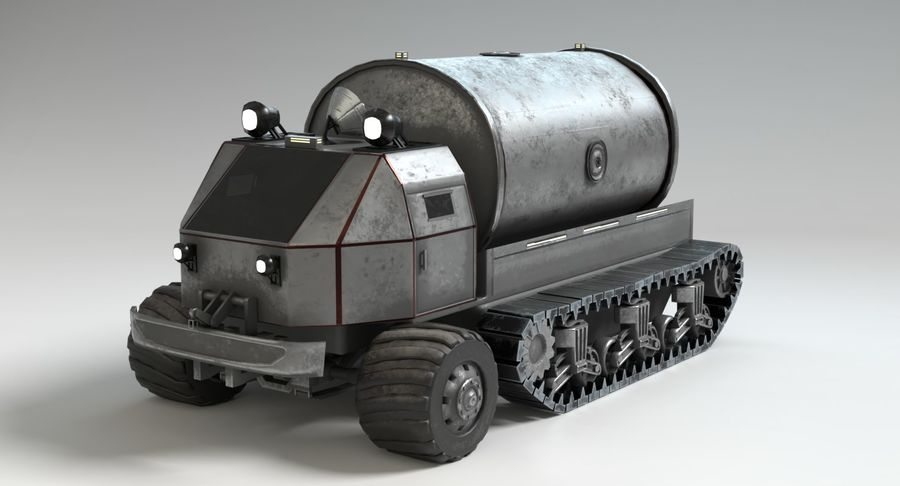 Sci Fi Tank Truck royalty-free 3d model - Preview no. 4