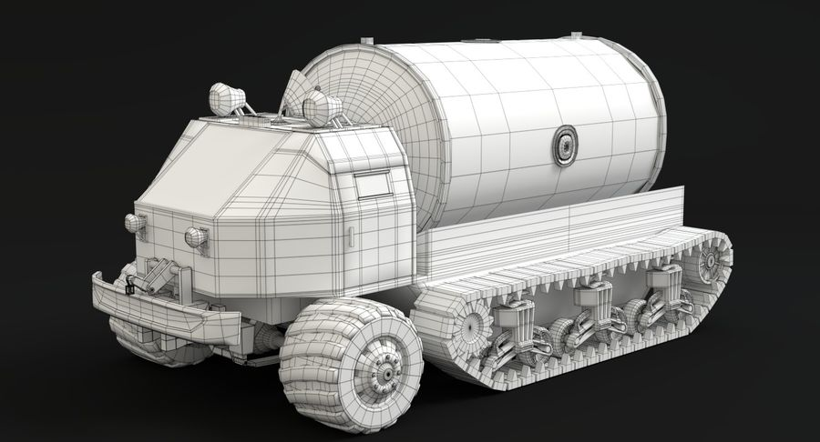 Sci Fi Tank Truck royalty-free 3d model - Preview no. 13