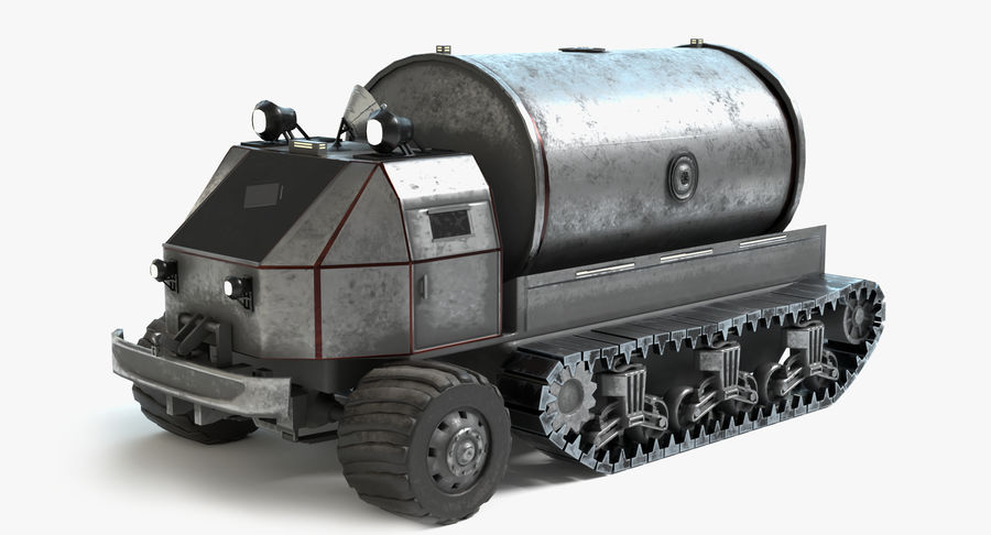 Camion-citerne Sci Fi royalty-free 3d model - Preview no. 2