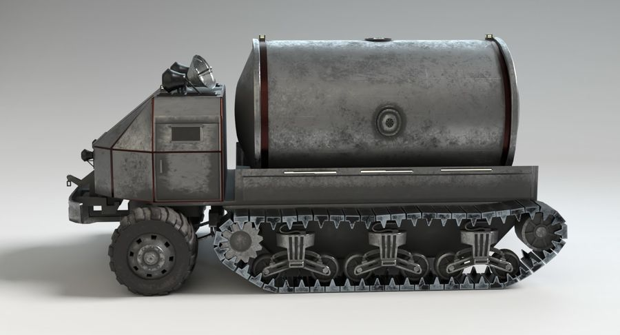 Camion-citerne Sci Fi royalty-free 3d model - Preview no. 10