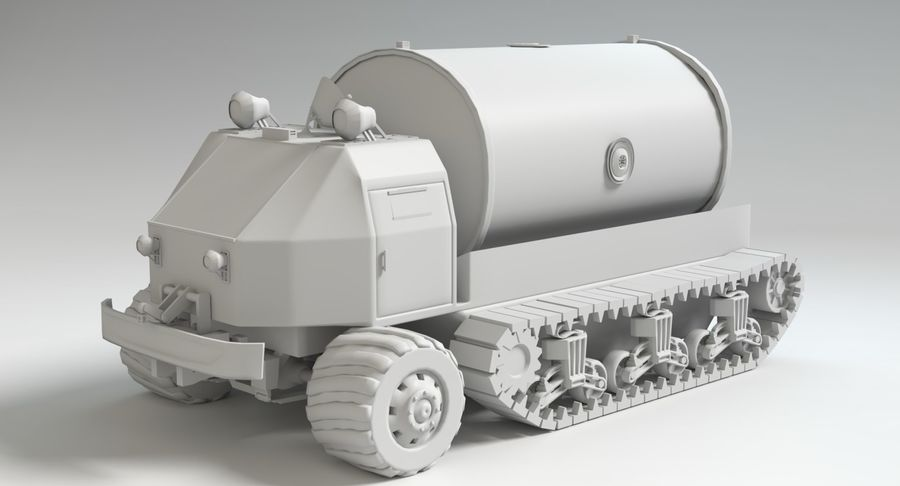 Camion-citerne Sci Fi royalty-free 3d model - Preview no. 12