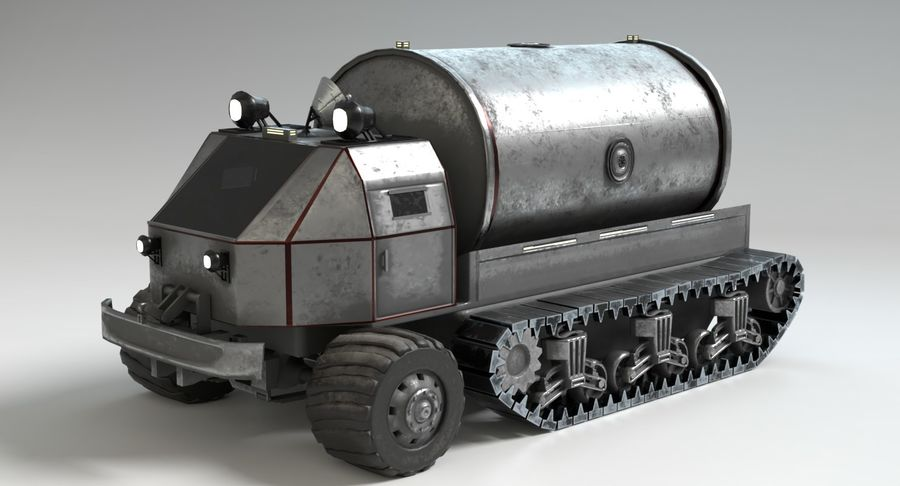 Camion-citerne Sci Fi royalty-free 3d model - Preview no. 3