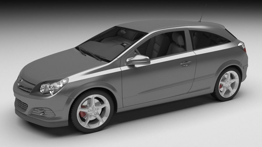 Opel astra royalty-free 3d model - Preview no. 1