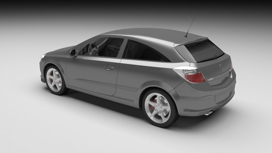 Opel astra royalty-free 3d model - Preview no. 2