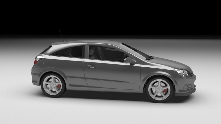 Opel astra royalty-free 3d model - Preview no. 4