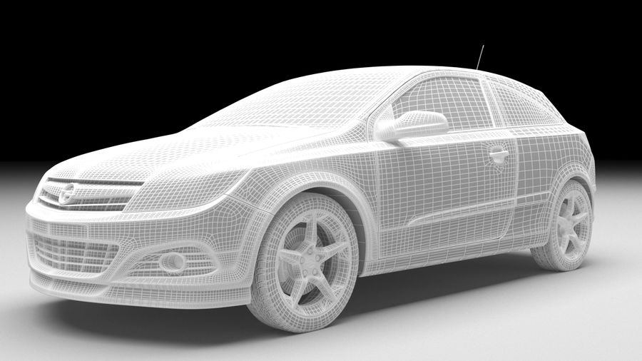 Opel astra royalty-free 3d model - Preview no. 6
