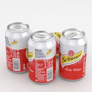 Напиток Can Schweppes Soda Water 330мл 3d model