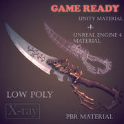 Fantasy dagger (low poly) 3d model