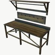 나무로되는 테이블 PBR 낮은 폴리 3d model