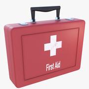 Zestaw medyczny czerwony 3d model