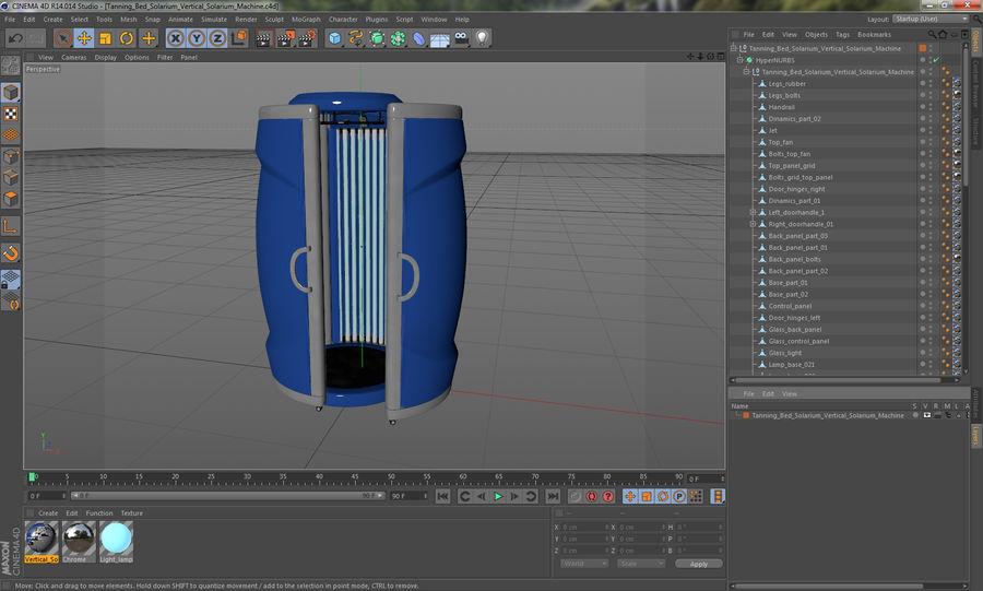Machine 3D Solarium Vertical Solarium Machine Modèle royalty-free 3d model - Preview no. 15