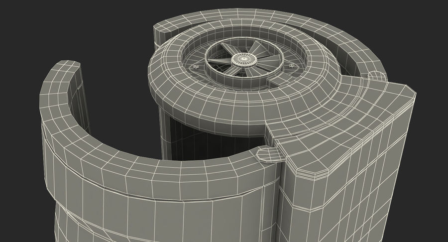Machine 3D Solarium Vertical Solarium Machine Modèle royalty-free 3d model - Preview no. 19