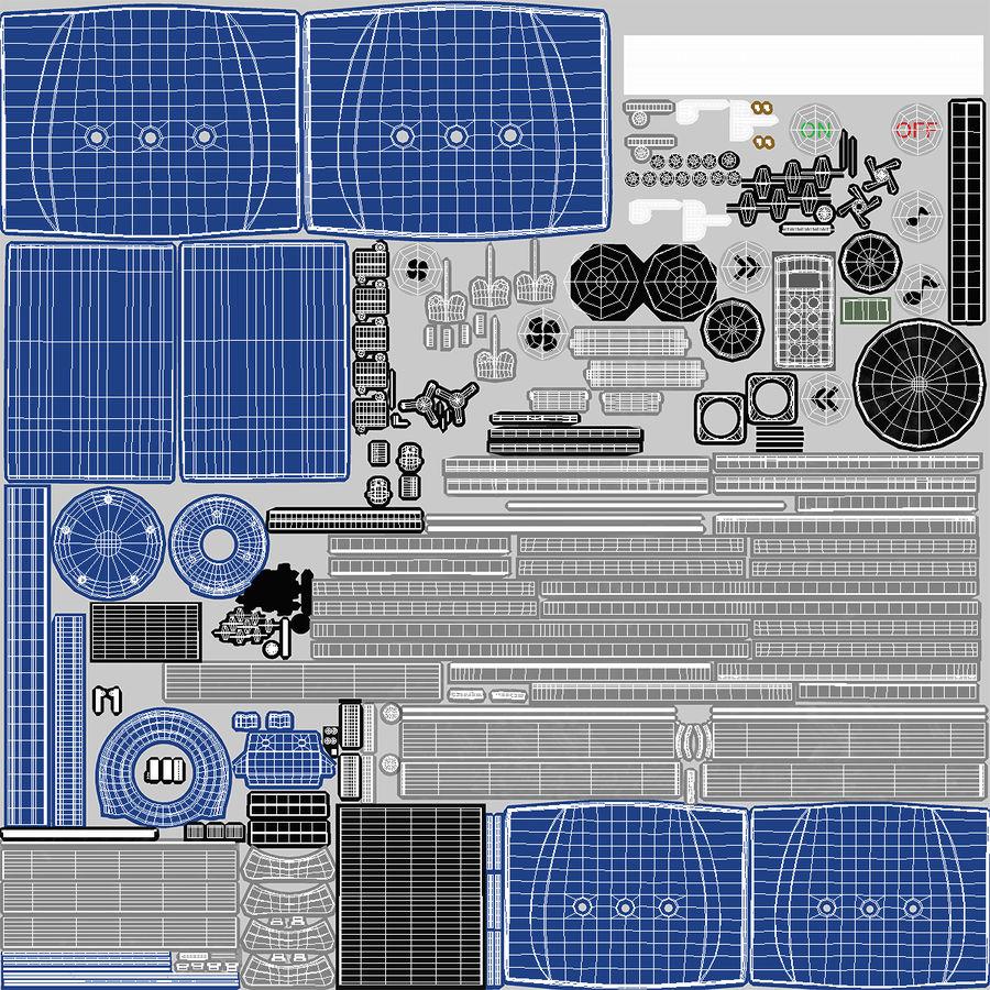 Machine 3D Solarium Vertical Solarium Machine Modèle royalty-free 3d model - Preview no. 11