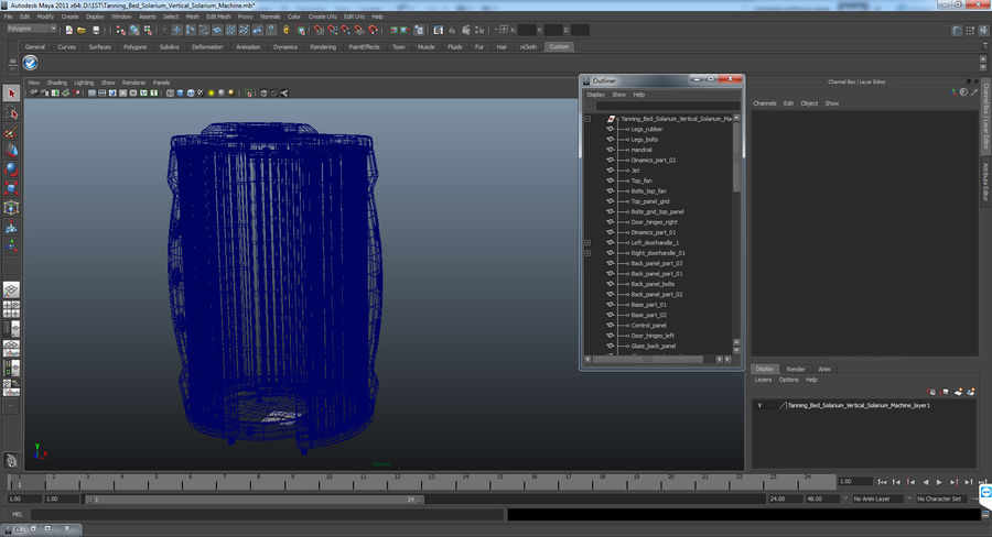 Machine 3D Solarium Vertical Solarium Machine Modèle royalty-free 3d model - Preview no. 14
