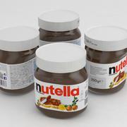 Ferrero Nutella Jar 350g 2017 3d model
