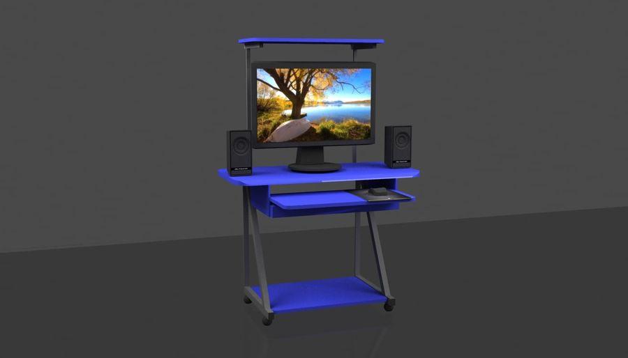 Tavolo per computer royalty-free 3d model - Preview no. 2