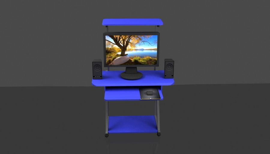 Datorbord royalty-free 3d model - Preview no. 3