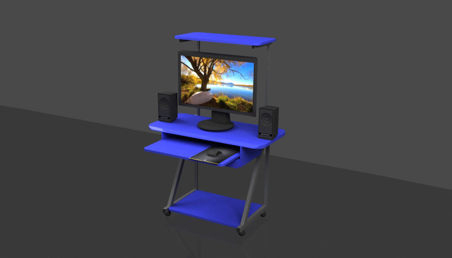 Datorbord royalty-free 3d model - Preview no. 4