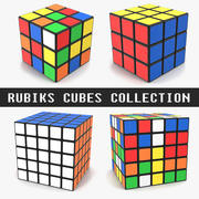 Rubiks Cubes Collection 3d model
